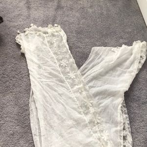 Long light weight white lace scarf. Used once!